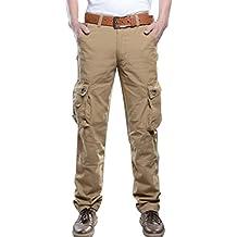 Baymate Hombre del Estilo Militar Combat Sports Casual Cargo Pantalones