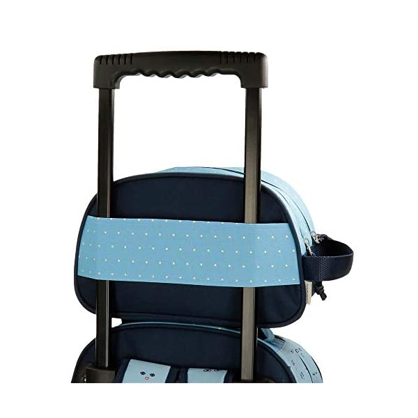Neceser Movom Wink Azul doble compartimento adaptable a trolley