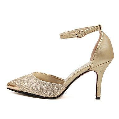 Moda Donna Sandali Sexy donna tacchi Primavera / Estate / Autunno Comfort PU Casual Stiletto Heel fibbia / punta metallica blu / oro altri golden