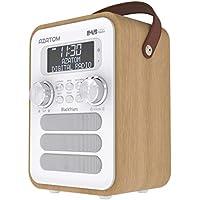 Blackfriars Retro DAB/DAB+ Digital FM Portable Radio/Alarm Clock/Real Wood Effect Finish/Mains Powered/Rechargable Battery/Subwoofer/Premium Stereo Sound (Light Oak)