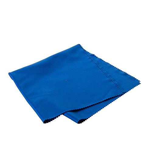 PhotoSEL Chiffon de nettoyage en microfibre pour Camera Lens Tablet iPhone LCD Lunettes TV - 30 x 30 cm / 11.8 x 11.8 pouces bleu (Paquet de 5)
