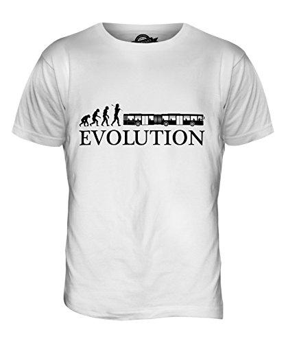 CandyMix Gelenkbus Evolution Des Menschen Herren T Shirt Weiß