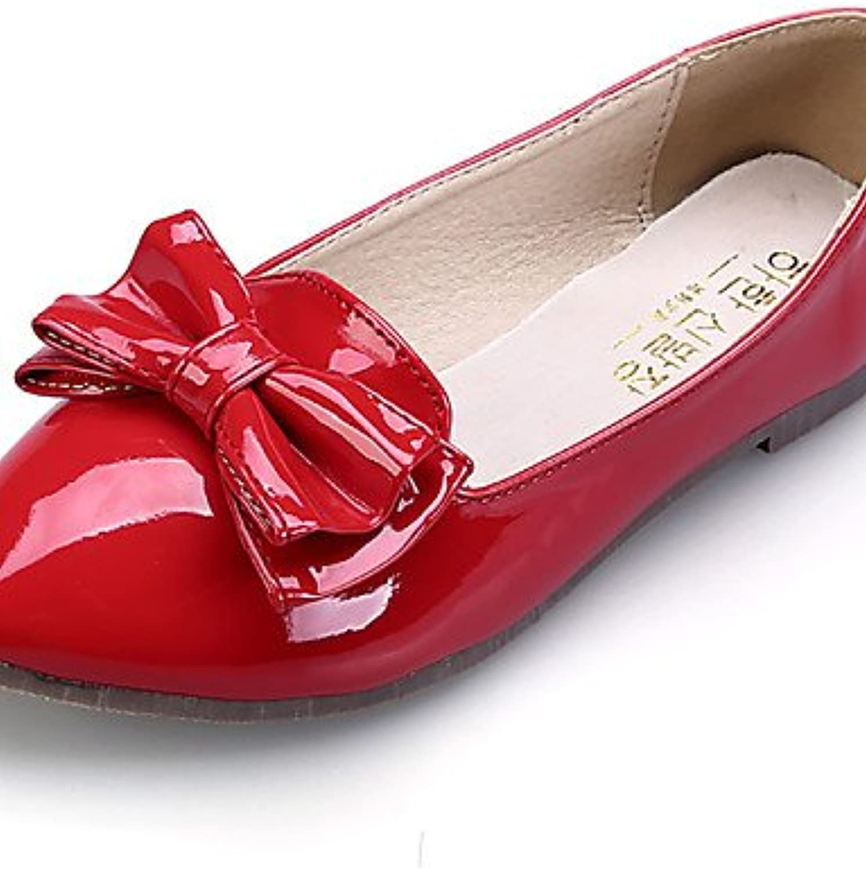 PDX/Damen Schuhe flach Ferse Komfort/spitz/geschlossen Zehen Wohnungen Kleid/Casual Schwarz/Pink/Rot/mandel