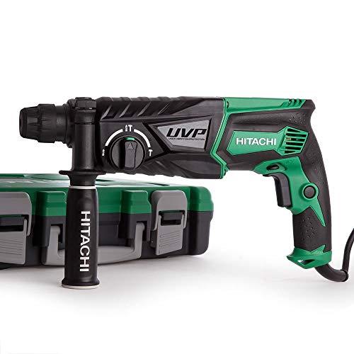 Hitachi 93214136 Taladro percutor, 850 W, 230 V, negro/verde