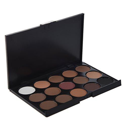 SODIAL(R) Palette Ombre ¨¤ paupi¨¨res 15 Couleurs chaudes pour les Maquillage Professionnel des Yeux
