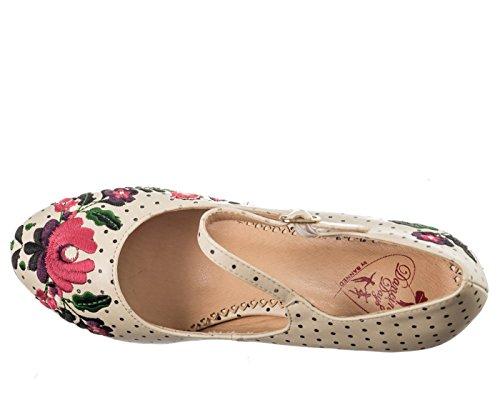 Dancing Days KALOSAI Vintage Polka Dots FOLKLORE Pumps High Heels Rockabilly -