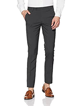 Indigo Nation Men's Straight Fit Formal Trousers (50011793220001_Grey_30W x 33L)
