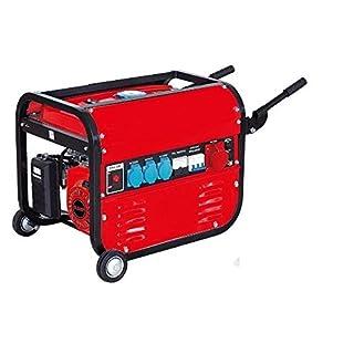 Générateur électrique à essence avec roues 15 litres 5500W (1000W + 1000W + 1000W + 2500W) Triphasé Monophasé Moteur 4T