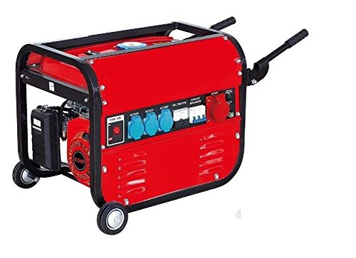 Générateur électrique à essence avec roues 15 litres 5500W (1000W +...