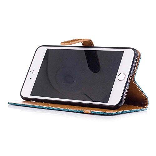 iPhone X Custodia Pelle [Protezione schermo libera], Billionn Tessuto Denim e Fodera in Pelle Cover Disegno Supporto Stand, Porta Carte e Protettiva Flip Portafoglio Case con chiusa Magnetica per iPho verde