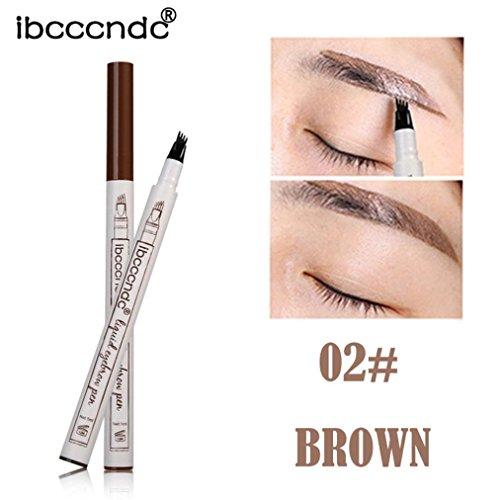 Fulltime Bon nouveau liquide sourcil tatouage stylo imperméable à la fourche croquis stylo maquillage Microblading encre croquis (B)