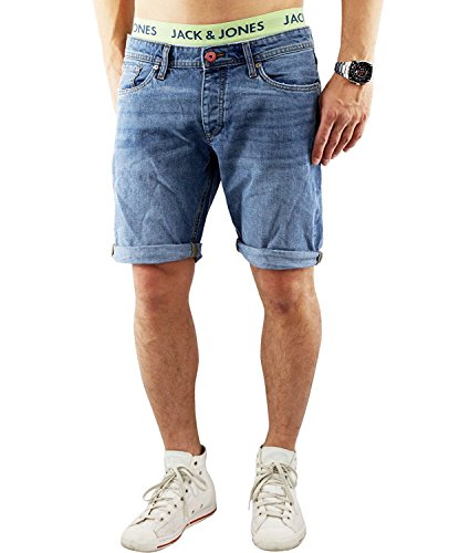 JACK & JONES Herren Shorts Hellblau (Blue Denim)