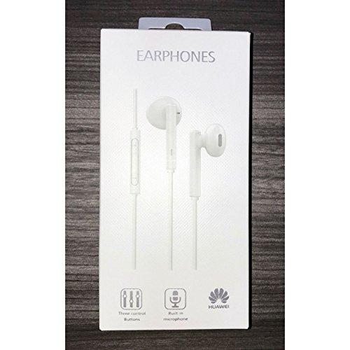 MLTrade - Auriculares Manos Libres Original Huawei AM115 para P7, P8, P9,P10, Lite, Plus, G7, G8, Mate, Honor, Blanco, Blister