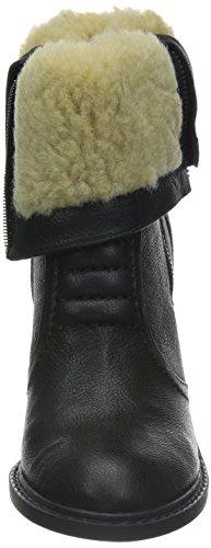 Clarks Lisette Blues Damen Kurzschaft Stiefel Schwarz (Black Leather)