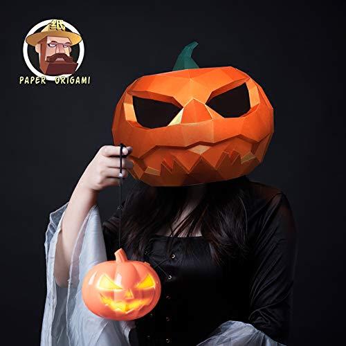 ZYWX DIY-Kürbis-Licht Papier Schimmel DIY Material Party Masquerade, Dekoration, Dekoration, Schatten, Weihnachts-/Halloween-Maske,Yellow