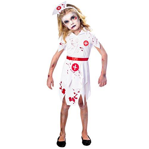 Zombie-Krankenschwester Halloween Kostüm Kinder Mädchen Amscan