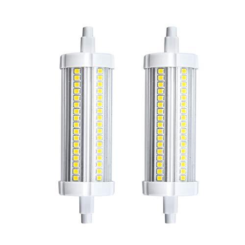 Bonlux R7s Led Lampe Leuchtmittel 15W 118MM 220V Warmweiß 3000K  360°Abstahlwinkel wie 150W HalogenTube Licht für Wandlampe/Wandleuchte, Flutlicht (2-Stück Nicht Dimmbar) - 150w Halogenlampe T3