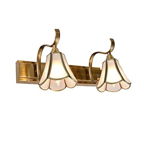 Guo Estilo Europeo Espejo Luz Delantera Baño Simple Estilo Americano Retro Espejo Luces Luces Del Espejo Rural Sanitarios Lámparas ( Tamaño : S )