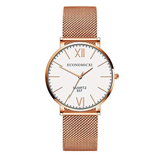 Uhren Damen Sportuhr Frauen Quarz Armbanduhr Uhr Damen Kleid Geschenk Uhren Retro Armbanduhr Mode Uhrenarmband Watch PU Lederband Watch ABsoar