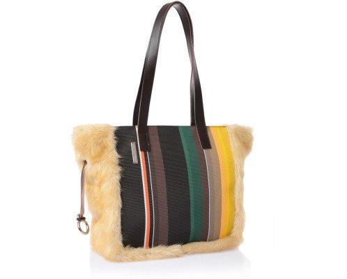 Brandina The Original , Sac pour femme à porter à l'épaule Multicolore - Molara Caramello