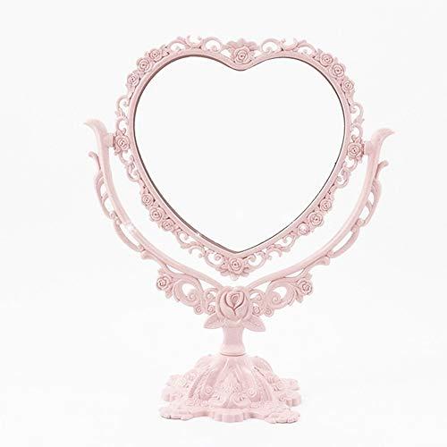 DFGJ Schminkspiegel Desktop Drehbare Gothic Spiegel Schmetterling Rose Decor Beauty