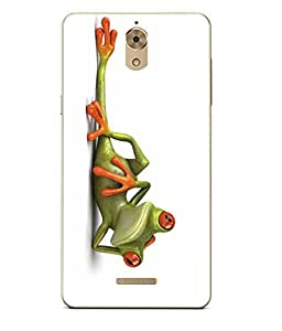 Case Cover Funny Frog Printed White Soft Back Cover For Coolpad Mega
