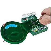 Out of the blue 79/3996 - Kunststoff-Trinkspiel, Golf mit 6 Gläsern und 2 Golfschlägern, circa 14 cm
