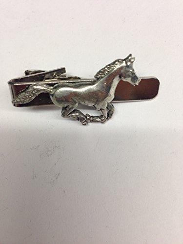 Running horse E00Pferd & Reiter English Pewter Emblem auf eine Krawatte Clip 4cm lang -