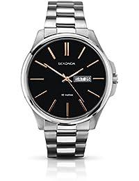 SEKONDA 1097.27 - Reloj de cuarzo para hombres, color plata