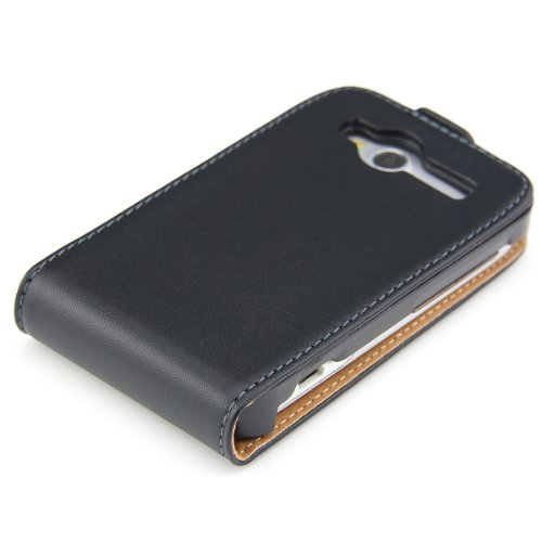 kwmobile Coque à Rabat HTC Wildfire S - Étui de Protection Flip en Simili Cuir pour HTC Wildfire S