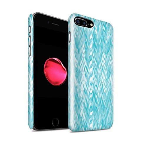 STUFF4 Glanz Snap-On Hülle / Case für Apple iPhone 6+/Plus 5.5 / Abstrakte Welle Muster / Teal Mode Kollektion Verwischen/Gezähnt