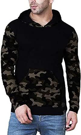 Veirdo Men's Cotton Hoodie T-Shirt - Camouflage