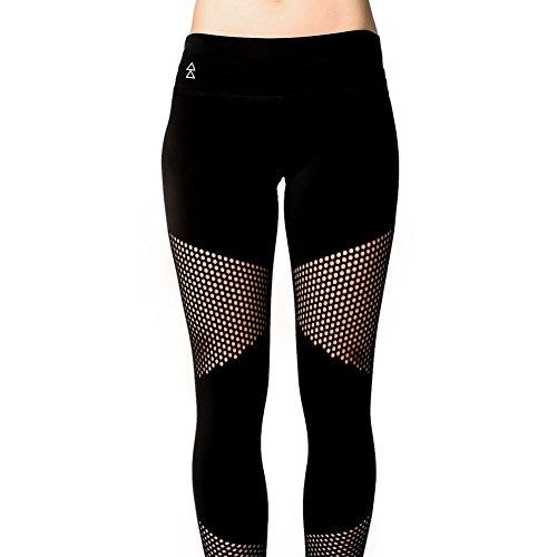 Peek-a-Boo Leggings von Yoga Design Lab. Luxuriöses Innenmaterial, Hautenge Kompressions Technologie und mit durchsichtigen Mustern. Yoga Hose designed, um jeden Moment darin zu lieben! (Katie, M)