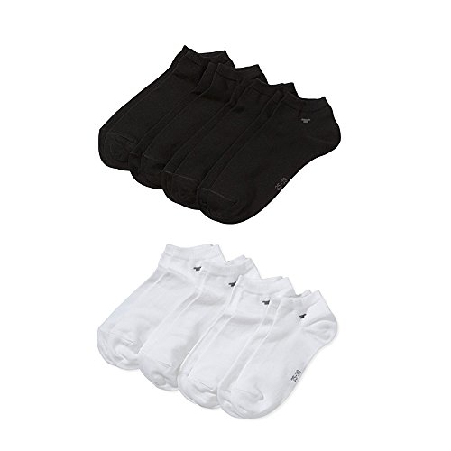 TOM TAILOR Unisex - Erwachsene Sneakersöckchen 4-er Pack, 9415 unisex sneaker 4 pack (Farbmix - 4Paar Schwarz 4Paar Weiss, 43/46)
