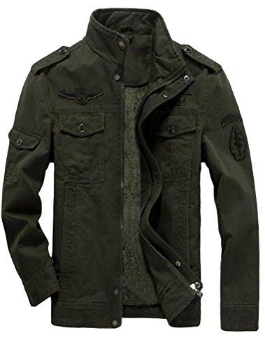 MatchLife Homme Nouveau Militaire Style Automne Veste Manteau Style1-Polaire-Armée Verte M