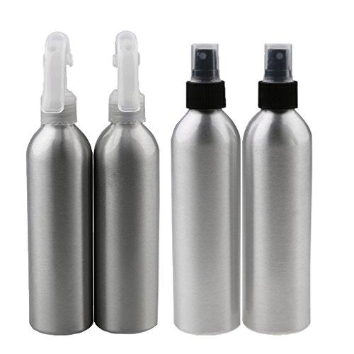 MagiDeal 4pcs 150ml Vide Atomiseur Vaporisateur de l'Eau à Cheveux en Aluminium pour Salon de Coiffure - Bouteille de Jet d'Eau / d'Acétone / d'Alcool en Brouillard