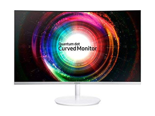Samsung 27 inch (68.4 cm) Curved QLED Backlit Computer Monitor - WQHD, VA Panel with HDMI, Mini-DP Ports - LC27H711QEWXXL (Silver)
