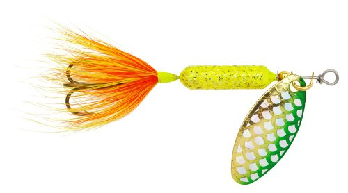 Yakima Bait Wordens Original Rooster Tail Spinner Lure, Strobe Chartreuse, 1/473 ml