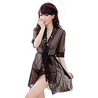 Lencería Mujer, Amlaiworld Vestido transparente de la ropa interior del camisón del cordón
