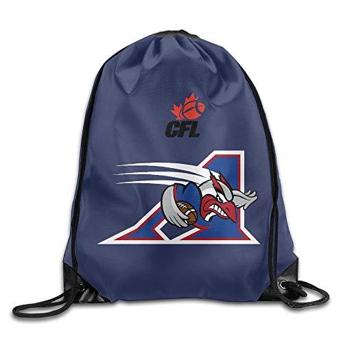 KAKALINQ CFL Montreal Alouettes Drawstring Backpack Bag White -