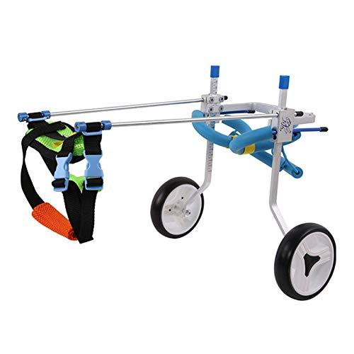 Hund Rollstuhl, Verstellbare Halterung Hinterbein-Rehabilitationsübung Haustier-Rollstuhl 2 Räder Behinderte Hunde-Hilfsenergie-Roller Für Teddy Big Dog Cart Kinderwagen (größe : XXXS)