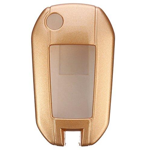 FeLiCia 3 Tasten Remote-Schlüssel-Cover Case Shell Fob Für Peugeot 208 308 508 3008 5008 - Gold