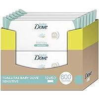 Toallitas húmedas Baby Dove sensitive moisture - Pack de 12 x 50: Total 600 toallitas
