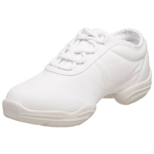 Capezio Canvas Dance Sneaker,White,4.5 M US