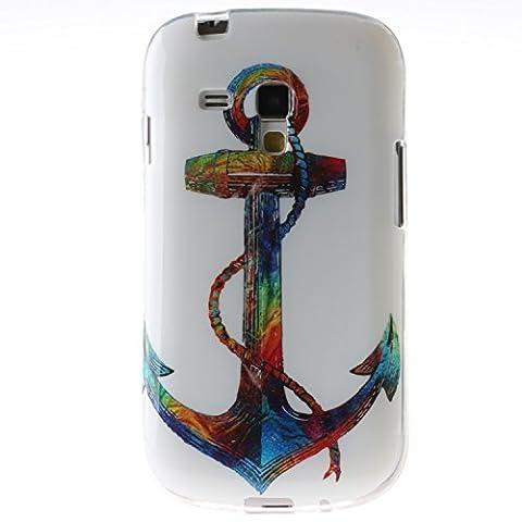 Pour Samsung Galaxy S3 mini i8190 S3mini Coque,Ecoway Housse étui en TPU Silicone Shell Housse Coque étui Case Cover Cuir Etui Housse de Protection Coque Étui Samsung Galaxy S3 mini i8190 S3mini –Color sea spear