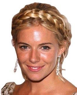 Braid geflochten geschoben Haar Haarband (19Honey Blonde Mix)