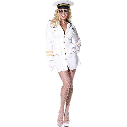 Original Sexy Top Gun Kostüm Offizierin Kleid Gr. 34 (XS), 36/38 (S), 40/42 (M), ()