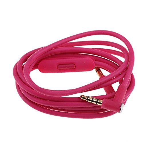 Homyl 3,5 mm Aux Kopfhörer kabel für Beats Studio, Executive, Mixer, Solo HD, Wireless und Pro Kopfhörer - Rose