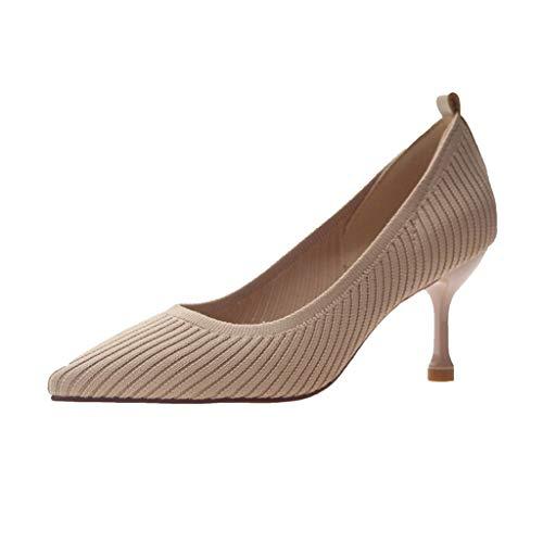 Wawer❤ -Sommer Mode Sexy Tuch Spitz Schuhe High Heels Plateau -Sexy Frauen Espadrilles Lässig Sandalen Strandschuhe Zehentrenner Pantoletten Riemchensandalen Einzelne Schuhe High Heels