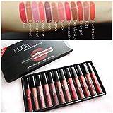 HUDA BEAUTY Liquid Matte Lipstick Lip Care, Multicolour Valentine Special (12 Pieces 1 Box)